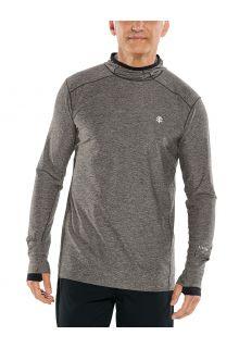 Coolibar---UV-Sportshirt-mit-Kapuze-für-Herren---Langärmlig---Agility---Anthrazit