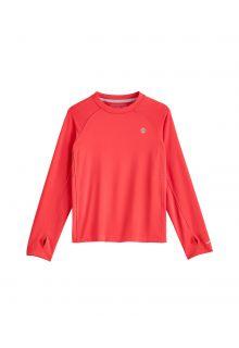 Coolibar---UV-Sportshirt-für-Kinder---Langärmlig---Agility---Prism-Pink