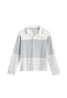Coolibar---UV-Sport-Polo-für-Kinder---Longsleeve---Erodym-Golf---Weiß/Grau