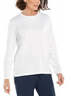 Coolibar---UV-Shirt-für-Damen---Carington-Tee---Weiß