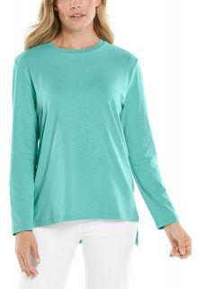 Coolibar---UV-Shirt-für-Damen---Carington-Tee---Crisp-Aqua