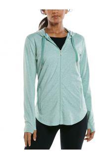 Coolibar---UV-Kapuzenshirt-mit-Reißverschluss-für-Damen---LumaLeo-Zip-Up---Salbeigrün