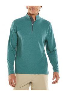 Coolibar---UV-Pullover-mit-Viertel-Zip-für-Herren---Sonora---Seegrün