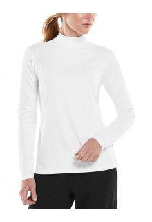 Coolibar---UV-Langarmshirt-mit-Rollkragen-für-Damen---Islandia---Weiß