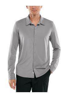 Coolibar---UV-Schutz-Hemd-für-Männer---Vita-Button-Down---Grau