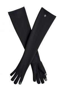 Coolibar---UV-schützende-Handschuhe-mit-langem-Arm-für-Erwachsene---Culebra---Schwarz