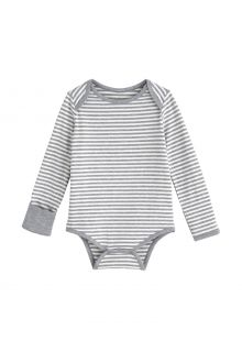 Coolibar---UV-Strampler-für-Babys---LumaLeo-Bodysuit---Grau/Weiß