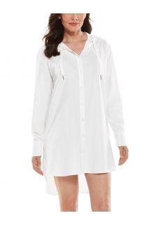 Coolibar---UV-Schutz-Strandtunika-für-Damen---Palma-Aire---Weiß