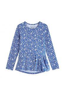 Coolibar---UV-Shirt-für-Mädchen---Langärmlig---Aphelion-Tee---True-Blue-Floral