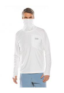 Coolibar---UV-Badeshirt-mit-Nackenschutz-für-Herren---Andros---Weiß