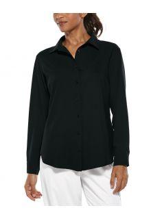 Coolibar---UV-Schutz-Bluse-für-Damen---Rhodos---Schwarz