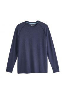 Coolibar---UV-Shirt-für-Herren---Langärmlig---LumaLeo---Indigo