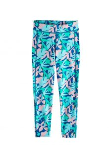 Coolibar---UV-Schwimmleggings-für-Kinder---Sunray-360---Marlin-Blau-Blumig