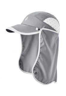 Coolibar---UV-Sport-Kappe-mit-Nackenschutz-für-Kinder---Agility---Stahlgrau/Weiß