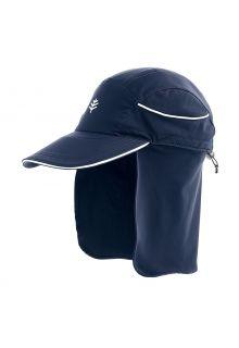 Coolibar---UV-Surferkappe-mit-Nackenschutz-für-Erwachsene---Eisbach---Navy