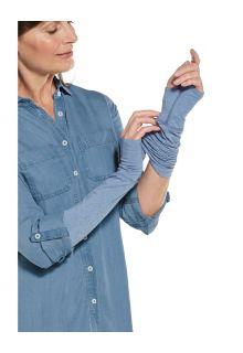 Coolibar---UV-schützende-Ärmel-für-Damen---LumaLeo---Hellblau