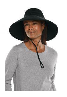 Coolibar---UV-Strandhut-mit-breiter-Krempe-für-Damen---Cyd---Schwarz