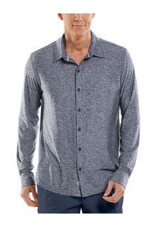 Coolibar---UV-Schutz-Hemd-für-Männer---Vita-Button-Down---Navy