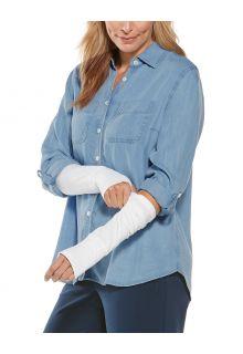 Coolibar---UV-schützende-Ärmel-für-Damen---LumaLeo---Weiß