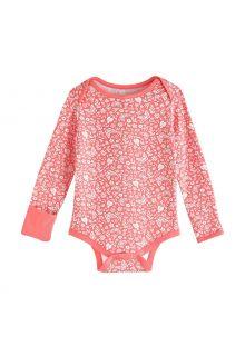 Coolibar---UV-Strampler-für-Babys---LumaLeo-Bodysuit---Pfirsich-Floral