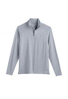 Coolibar---UV-Pullover-mit-Viertel-Zip-für-Herren---Sonora---Grau