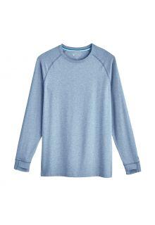 Coolibar---UV-Shirt-für-Herren---Langärmlig---LumaLeo---Hellblau