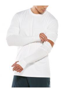 Coolibar---UV-schützende-Ärmel-für-Herren---LumaLeo---Weiß