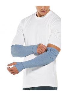 Coolibar---UV-schützende-Ärmel-für-Herren---LumaLeo---Hellblau