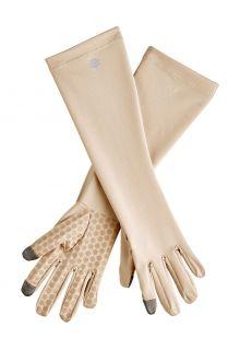 Coolibar---UV-schützende-Handschuhe-mit-Ärmel-für-Erwachsene---Bona---Beige