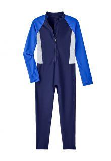 Coolibar---UV-Schwimmanzug-für-Kinder---Sunray-360-Coverage---Navy