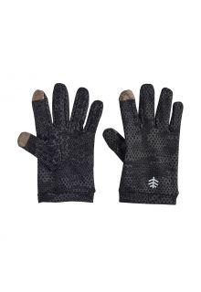 Coolibar---UV-schützende-Handschuhe-für-Kinder---Y-Gannet---Anthrazit-Tarnmuster