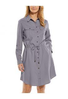 Coolibar---UV-Tunika-für-Damen---Napa-Travel-Dress---Grau