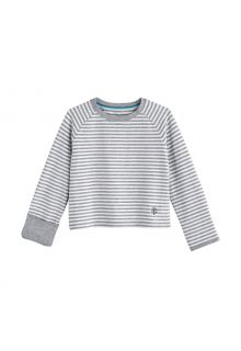 Coolibar---UV-Shirt-für-Babys---Langärmlig---LumaLeo---Grau/Weiß