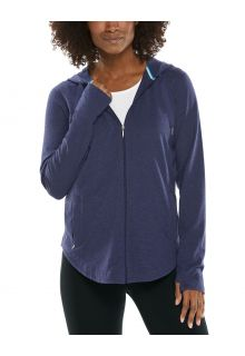 Coolibar---UV-Kapuzenshirt-mit-Reißverschluss-für-Damen---LumaLeo-Zip-Up---Indigo
