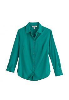 Coolibar---UV-Schutz-Bluse-für-Damen---Rhodos---Smaragdgrün