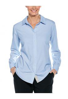 Coolibar---UV-Schutz-Bluse-für-Damen---Hepburn---Hellblau