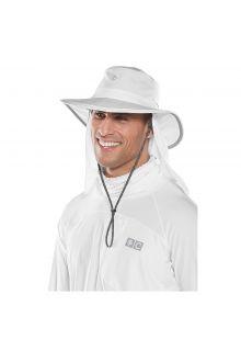 Coolibar---UV-Hut-mit-versteckbarem-Nackenschutz---Weiß