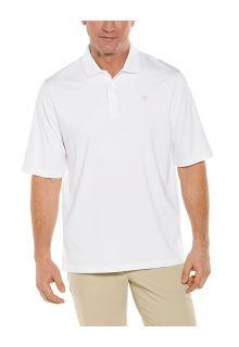 Coolibar---UV-Sport-Polo-für-Herren---Erodym-Golf---Weiß