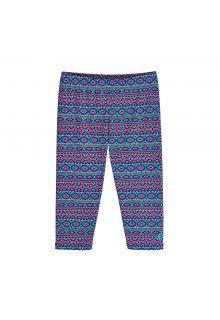 Coolibar---UV-Schwimmleggings-3/4-Länge-für-Kinder---Pink/Blau