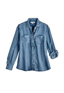 Coolibar---UV-beständige-Bluse-für-Damen---Peninsula---Light-Indigo