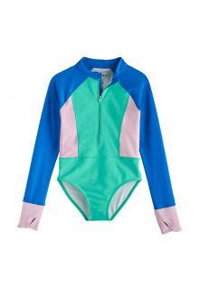 Coolibar---UV-Langarm-Badeanzug-für-Mädchen---Koko---Meeresminze