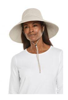 Coolibar---UV-Strandhut-mit-breiter-Krempe-für-Damen---Cyd---Sand