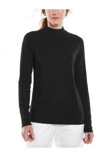 Coolibar---UV-Langarmshirt-mit-Rollkragen-für-Damen---Islandia---Schwarz