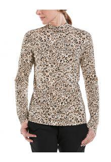 Coolibar---UV-Langarmshirt-mit-Rollkragen-für-Damen---Islandia---Cheetah