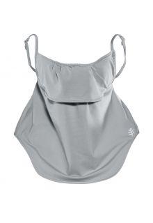Coolibar---UV-schützende-Gesichtsmaske-für-Erwachsene---Vermilion---Kieselgrau