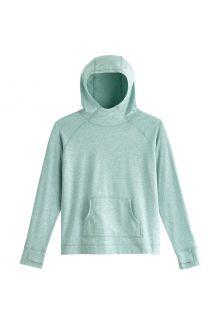 Coolibar---UV-Kapuzenpullover-für-Kinder---LumaLeo---Salbeigrün