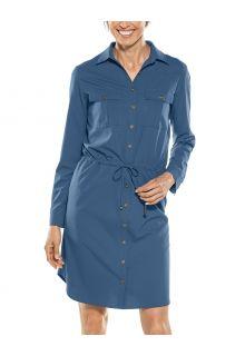 Coolibar---UV-Tunika-für-Damen---Napa-Travel-Dress---Navy
