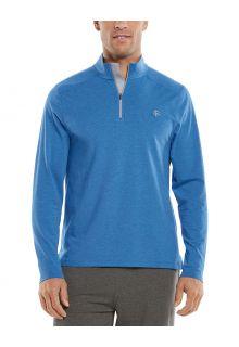 Coolibar---UV-Pullover-mit-Viertel-Zip-für-Herren---Sonora---Himmelblau