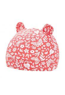 Coolibar---UV-schützende-Babymütze---Critter-Fauna---Pfirsich/Dschungel-Floral