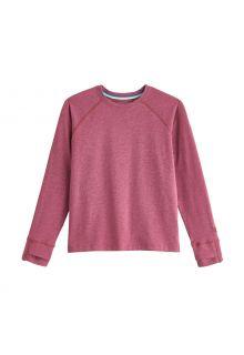 Coolibar---UV-Shirt-für-Kinder---Langärmlig---LumaLeo---Beerenrot